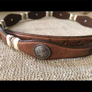 Tony Lama Leather Coin Belt Strap